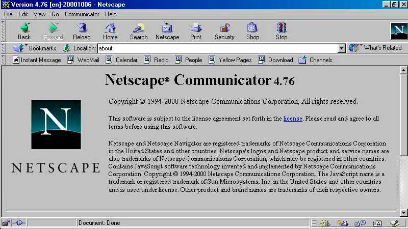 Browser Netscape.