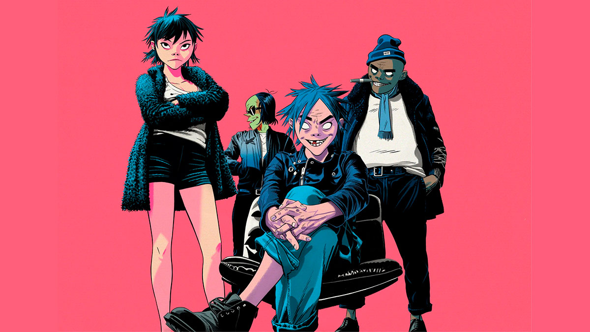 Gorillaz 2017 Humanz Strobelite Garage Palace The Now Now Tranz Reject False Icons Song Machine Aries How far Friday 13th concierto Pink Phantom