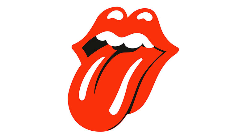 El logotipo de The Rolling Stones