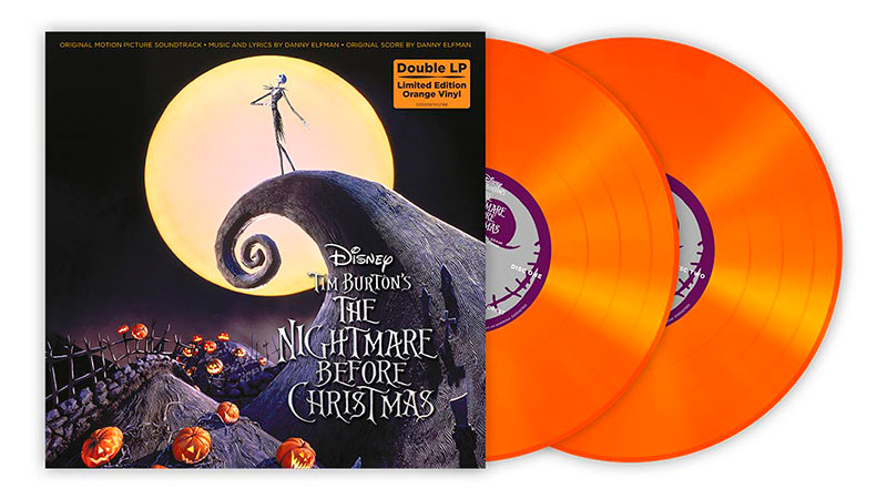 "Soundtrack de ""The Nightmare Before Christmas"" en vinilo naranja"