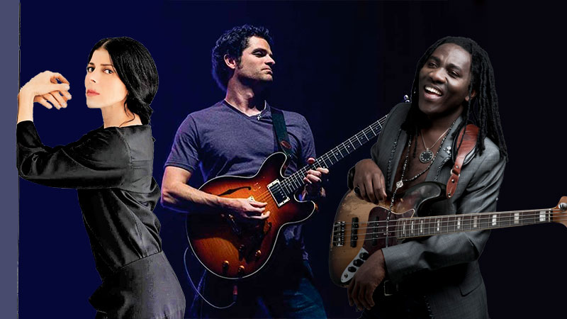 Ely Guerra, Mark Lettieri y Richard Bona en sound:check Xpo 2020